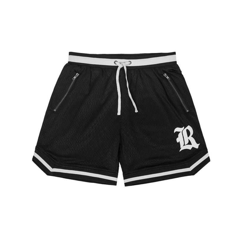 Game Day Mesh Shorts - Black/White