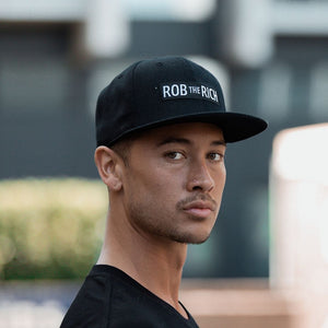 Box Logo Snapback - Black
