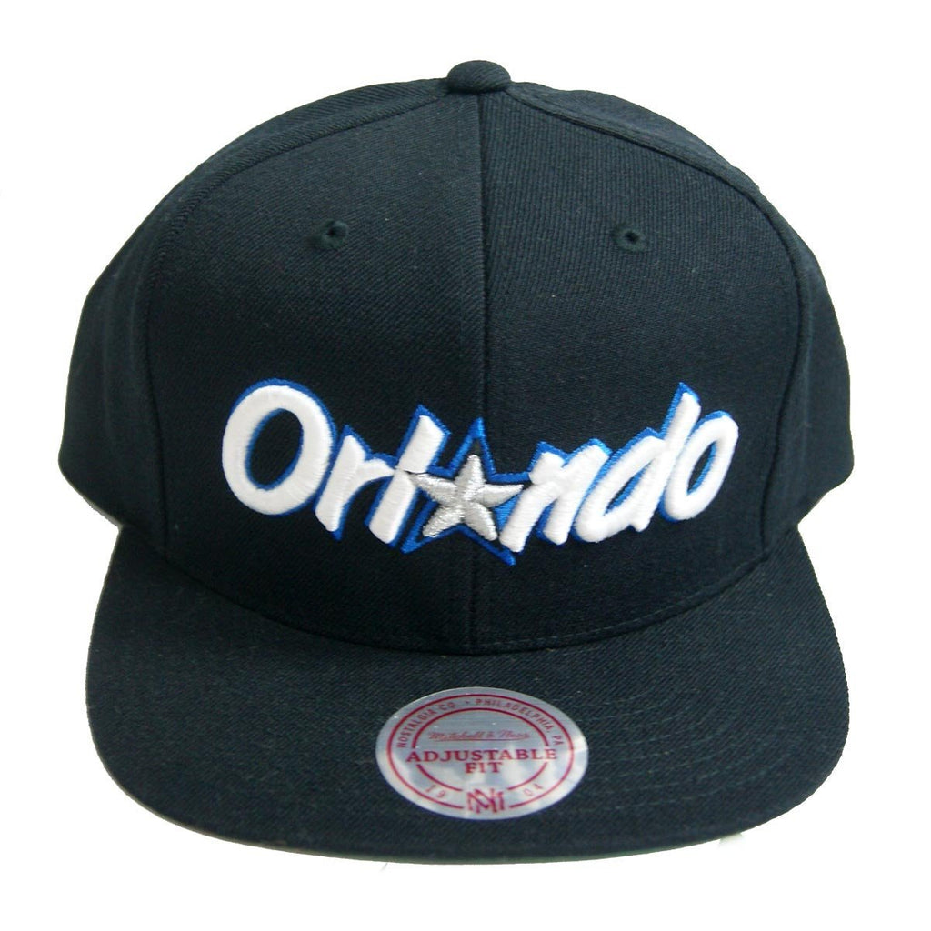 NBA Mitchell & Ness Orlando Magic Black Wordmark Snapback Cap