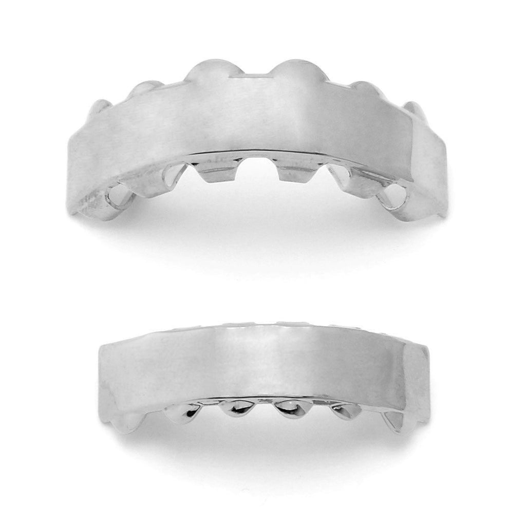 Silver Plated Flat Finished Hip Hop Grillz
