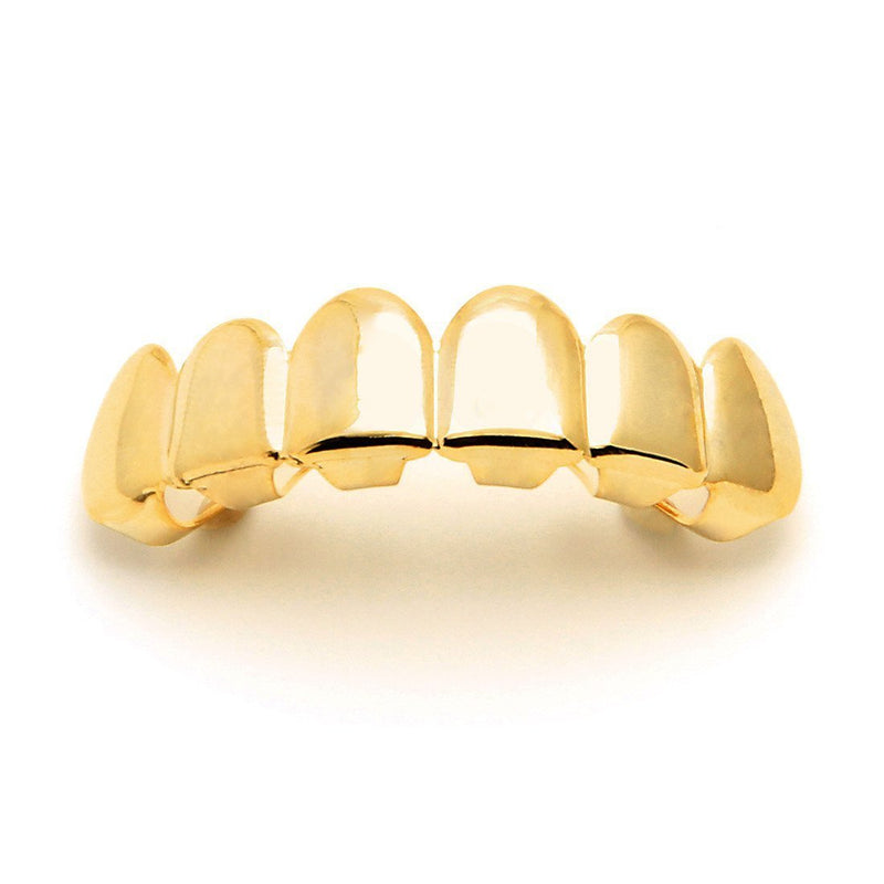Gold Plain Top Grillz