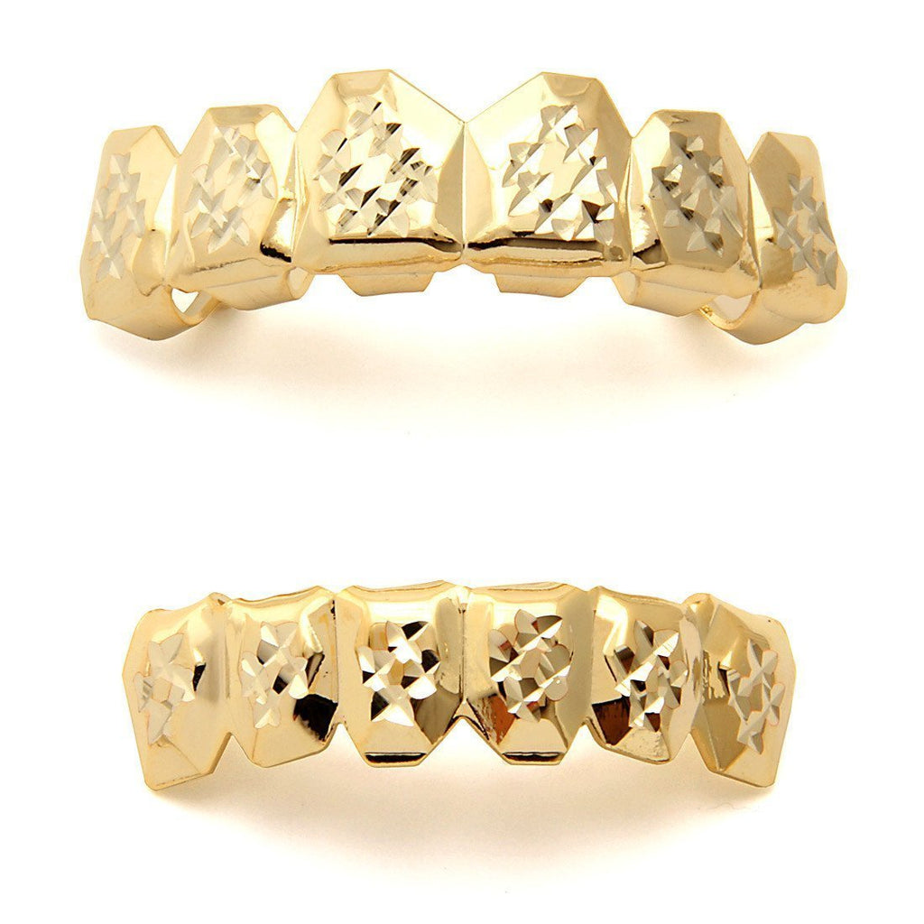 King Ice Gold Diamond Cut Grillz