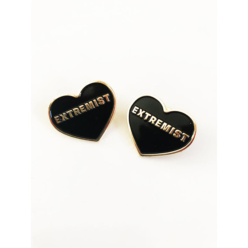 2 Love Extremist Pins - Black and Gold