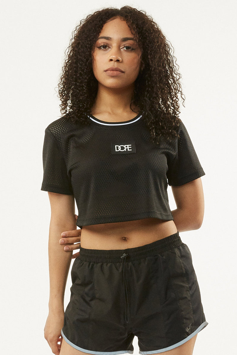 Cropped Mesh Jersey