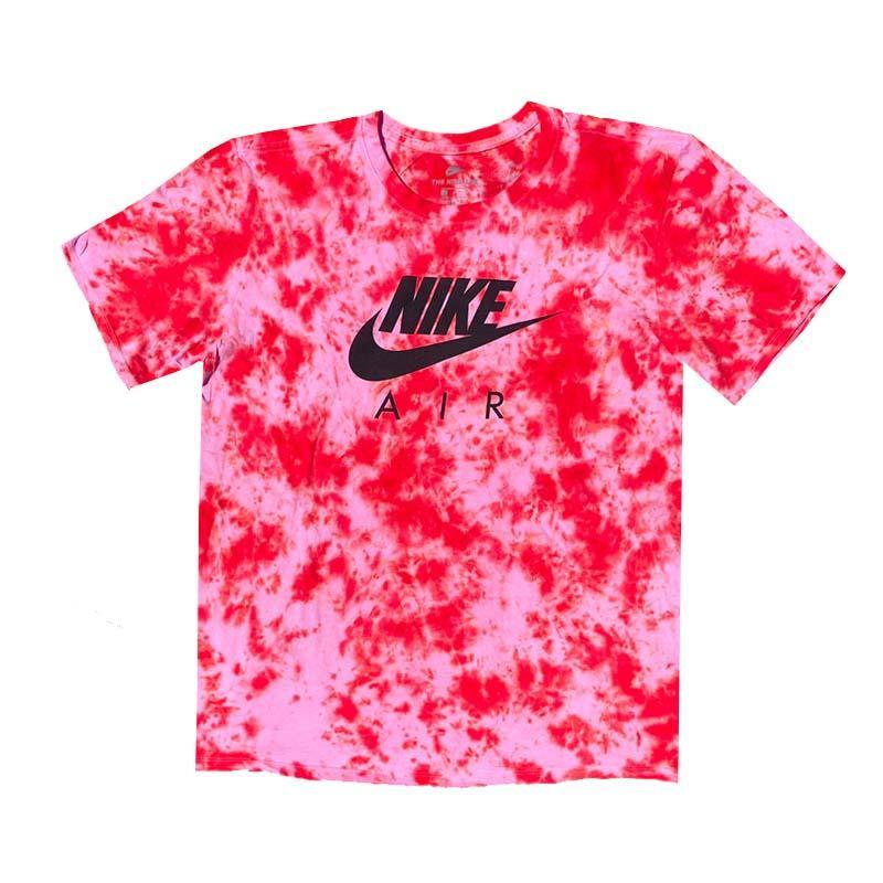 "Nike x Jeffersons Custom Tonal Tie Dyed T-Shirt ""FIRE RED"""