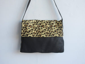 100% Genuine Leather Hair-On Cheetah Print Handbag