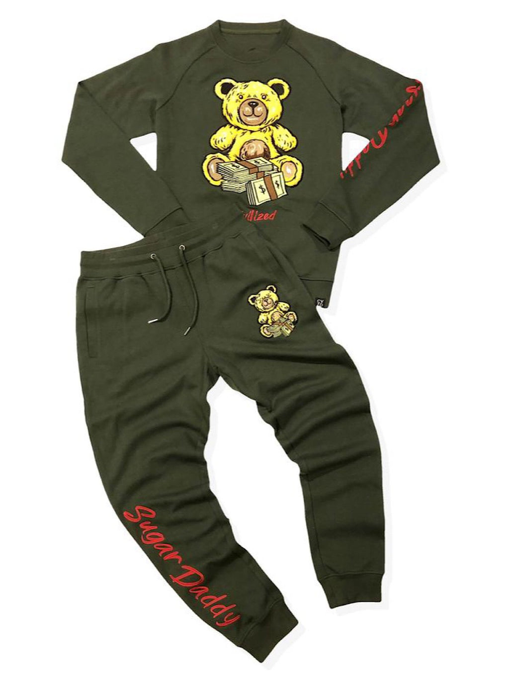 Civilized Sweatsuit - Sugar Daddy - Olive