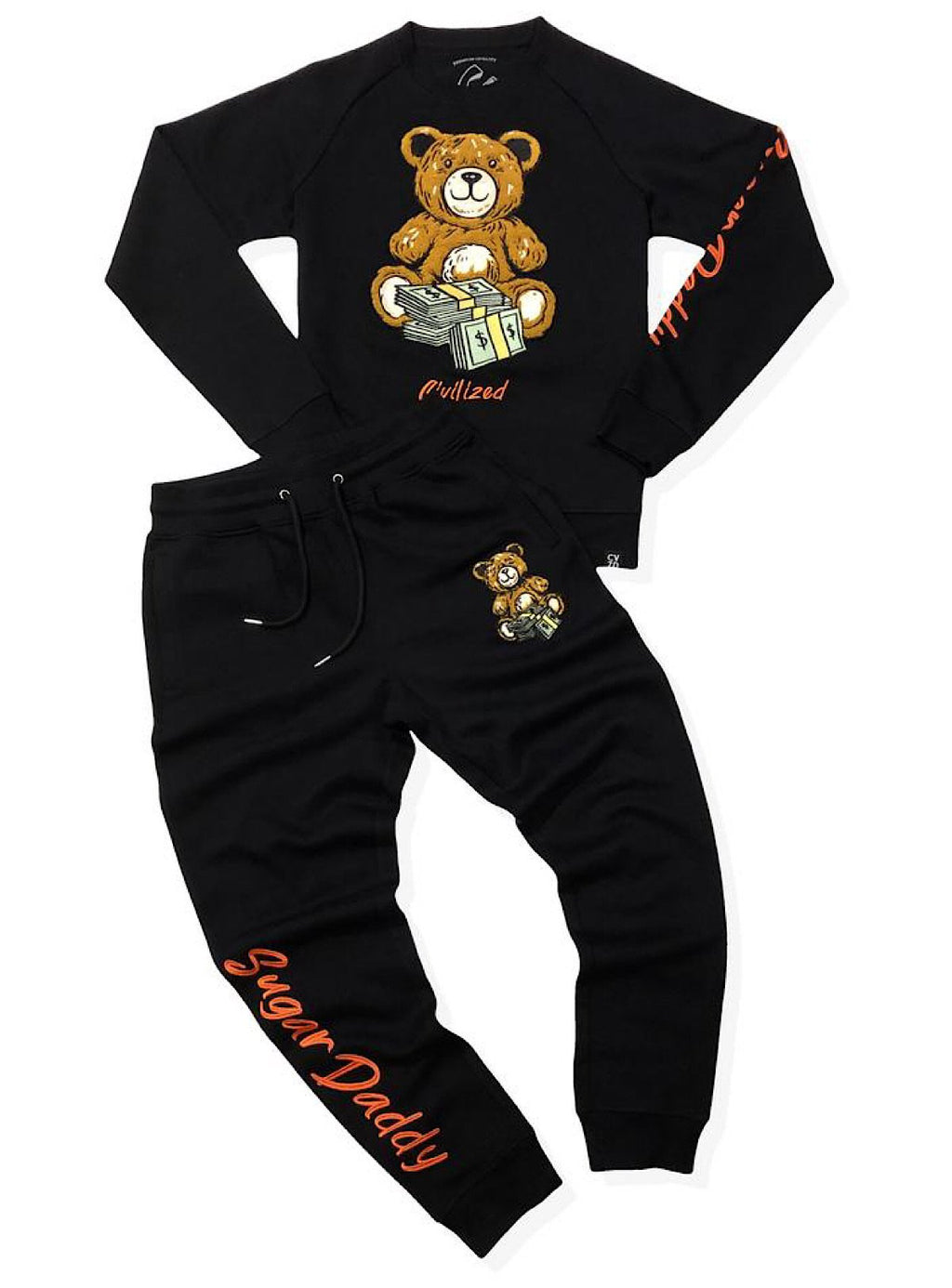 Civilized Sweatsuit - Sugar Daddy - Black And Orange
