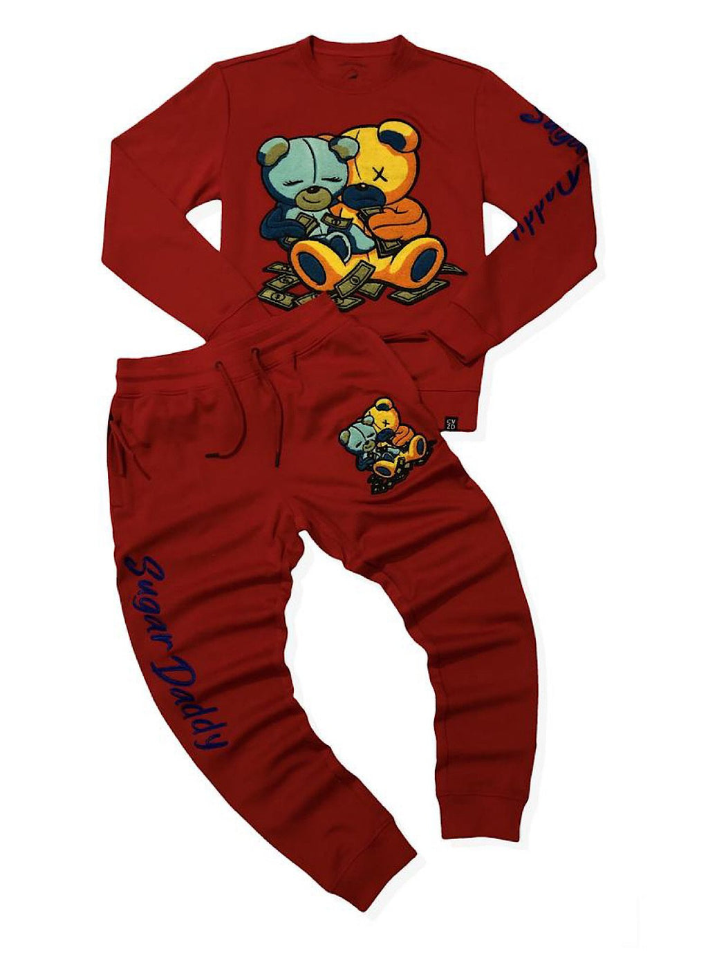 Civilized Sweatsuit - Double Sugar Daddy - Red