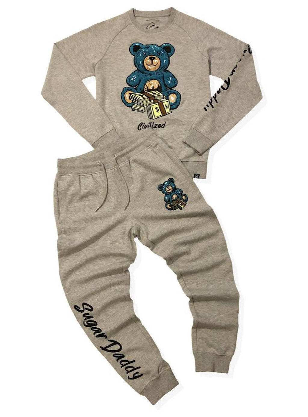 Civilized Sweatsuit - Sugar Daddy - Heather Grey