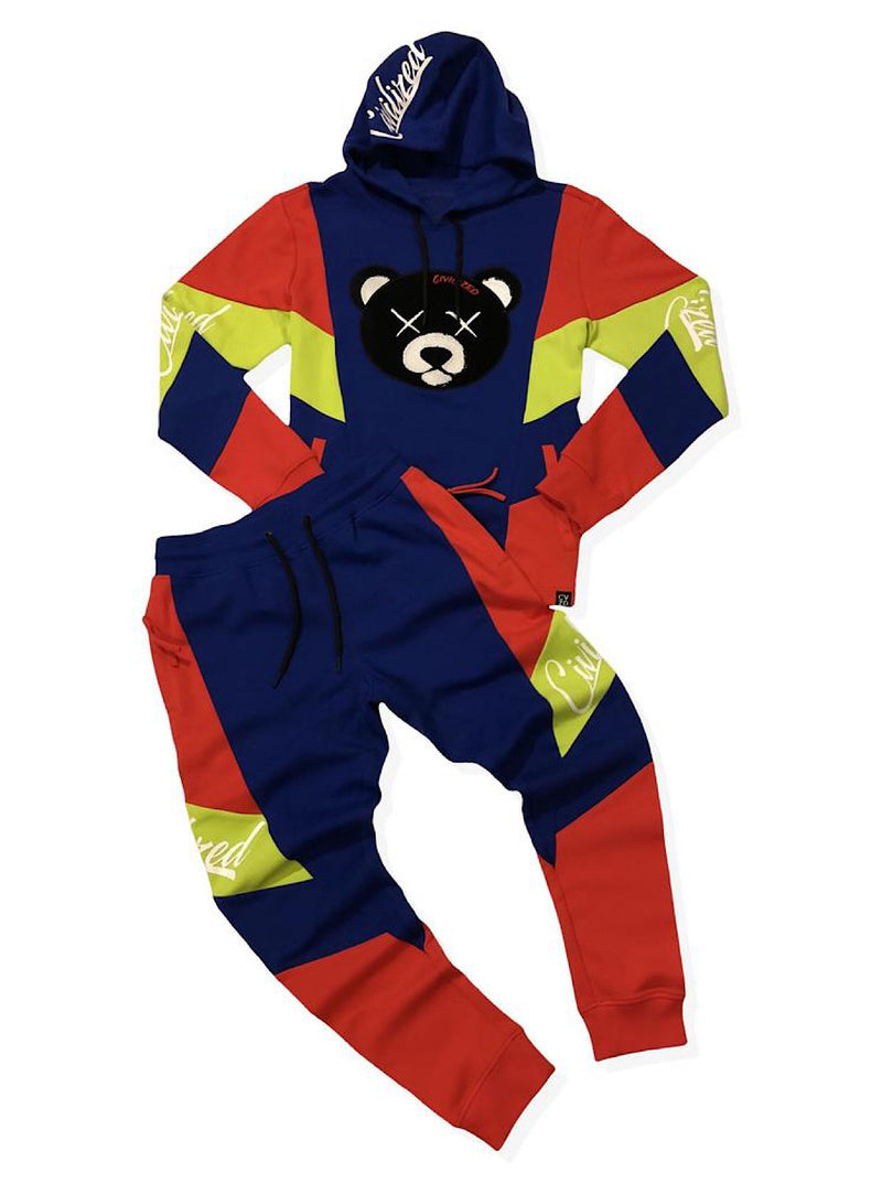 Civilized Sweatsuit - Bear - Royal