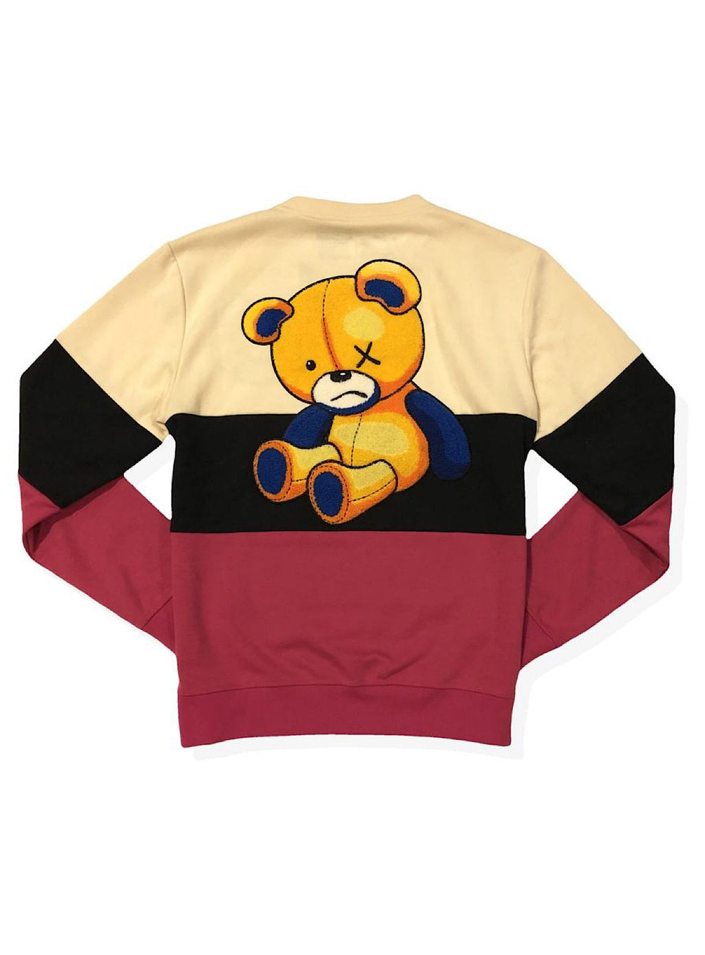 Civilized Sweatsuit - Color-blocked Bear - Fuchsia
