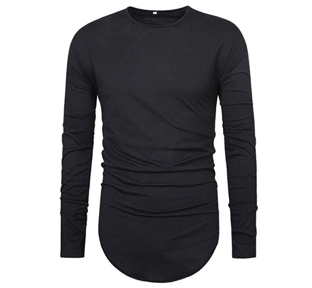 Long Sleeve Curved Bottom