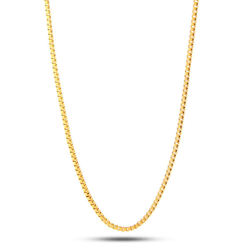 2mm 14K Gold Box Chain