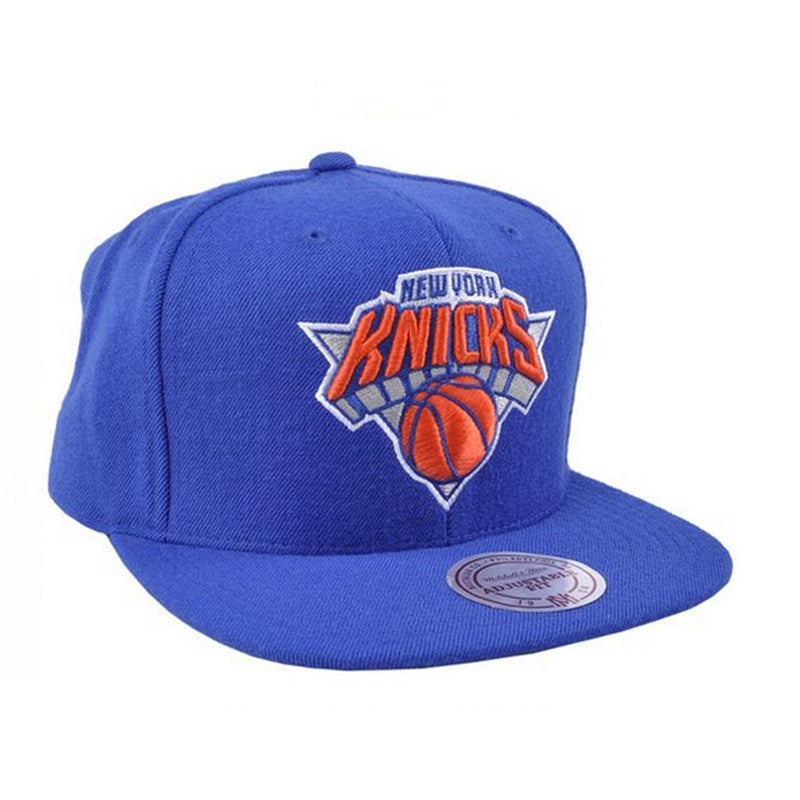 NY Knicks Basic Logo Snapback Hat in Blue