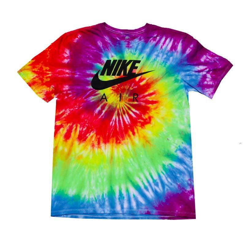 Nike x Jeffersons Custom Rainbow Swirl Tie Dyed T-Shirts