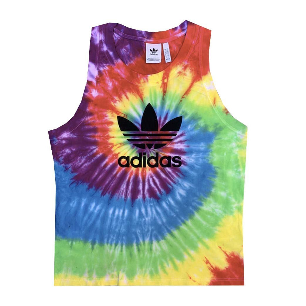 "Adidas x Jeffersons Custom ""Rainbow"" Swirl Tie Dyed Tank Top"