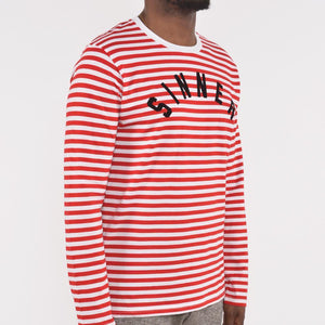 Nerdy Fresh Sinner Long Sleeves Stripes Tee
