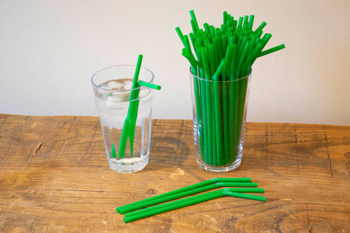 Green Bendy Straw 6mmx8inch