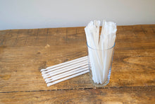 White Spoon Straw 8mmx8inch