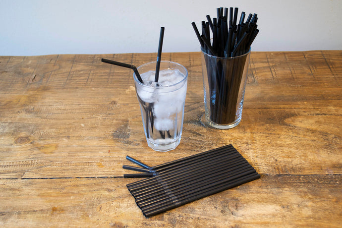 Black Bendy Straw 6mm x 8inch