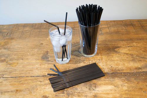 Black Bendy Straw 5mm x 8inch