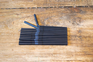 Black Bendy Straw 6mm x 5.5inch