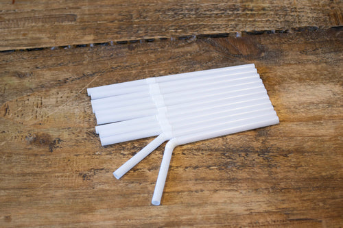 White Bendy Straw 6mm x 5.5inch