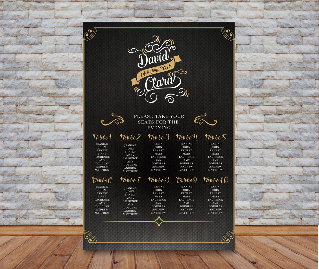 Artisan BlackBoard Table Plan