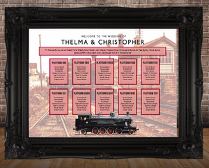 Railway Theme Table Plan - Station House