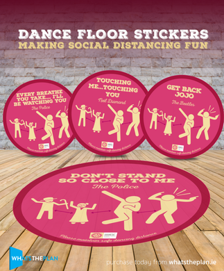 Social Dancing Stickers (4 Pack)