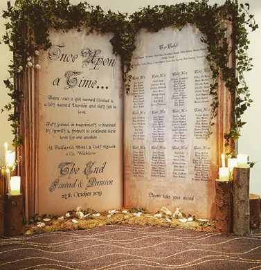 Forest Fairytale themed Table Plan