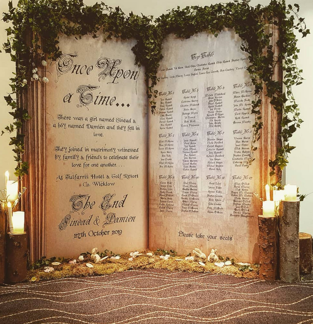 Forest Fairytale themed Table Plan - €250