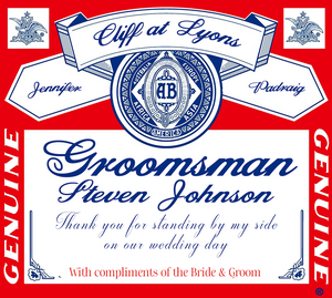Personalised Bottle  Label