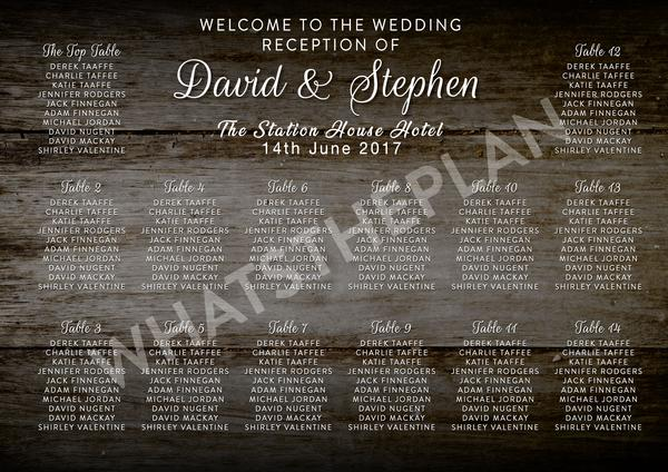 Wooden Effect Large Table Plan