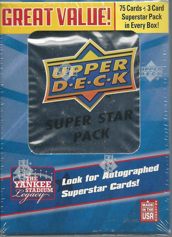 2008 Upper Deck Series 1 Baseball Cards SUPER STAR PACK - Mini Box