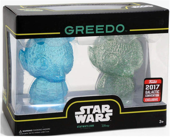 Funko Hikari - Star Wars - Greedo Mini Figure Set (Blue and Clear) - 2017 Galactic Convention Exclusive