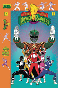 Mighty Morphin' Power Rangers #1 Launch Party Tradd Moore Variant Cover by Boom! Studios