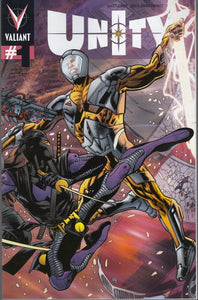 Unity #1 Variant B Braithwaite Bryan Hitch Pullbox Variant Cover Valiant Comics 2013