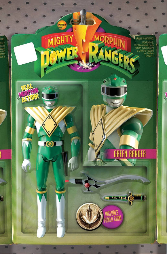Mighty Morphin' Power Rangers #1 David Ryan Robinson Unlock Action Figure Variant Comic Book by Boom! Studios