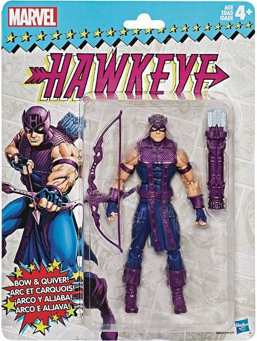 Marvel Legends Vintage (Retro) Series 2 Hawkeye Action Figure [Classic Costume]