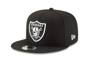 New Era NFL Oakland Raiders Shield Logo Block Back Snapback Cap 9Fifty