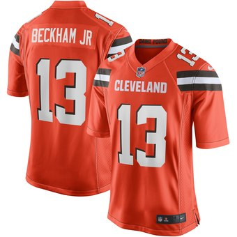 check out 4b1d5 95c1a Men's Odell Beckham Jr Cleveland Browns Orange Limited Jersey Stitched
