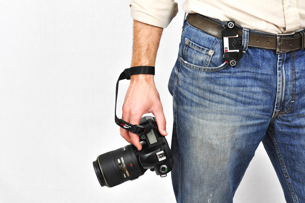Unobtrusive and easy to use Camera Cuff strap
