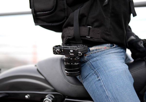 The Capture v2 Camera Clip securely holds even small cameras