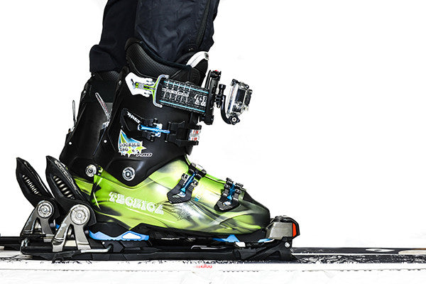 Get real down low into the action with a foot mounted GoPro