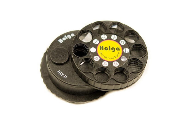 The Holga Lens Turrent includes many split image and macro type effects