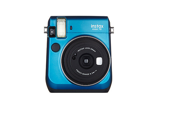 The new Fujifilm Instax Mini 70 Camera in Island Blue