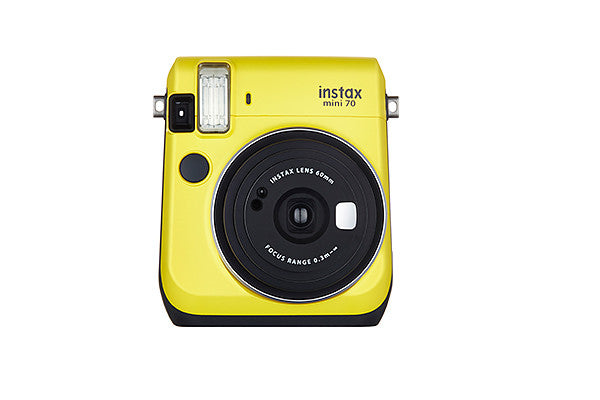 A Canary Yellow model of the new Fuji Instax Mini 70 Camera