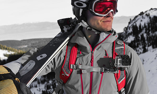 Snowboarding with a GoPro attached to the POV Kit